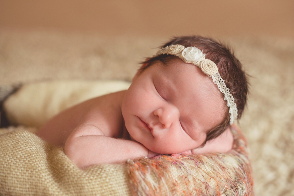 Newborn Baby Girl Dark Hair Sweet newborn baby goodness