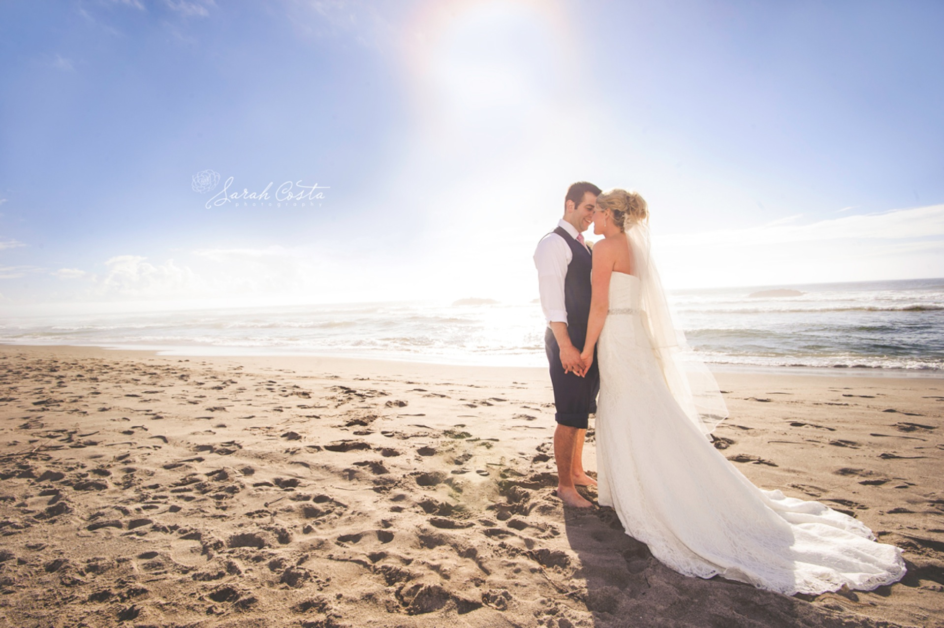 Beach Wedding Photographers Oregon Coast Sarah Costa Ridgefield Newborn Studio Photographer